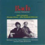 CD Bach - Violin Concertos / Jitka Novakova, Miroslav Vilimec violin, Members of Czech Philharmonic Orchestra